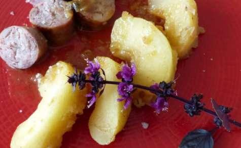 Saucisse de Toulouse aux pommes