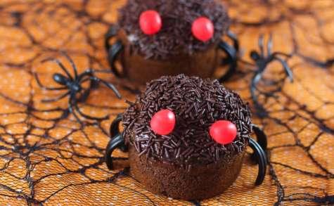 Halloween muffins araignées