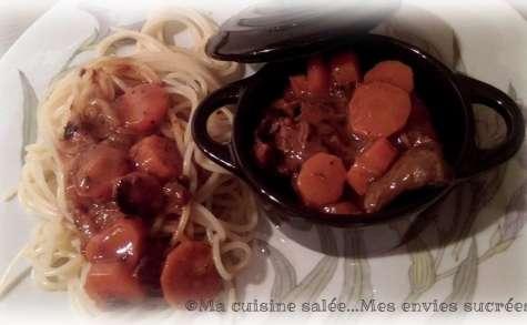 Boeuf carottes Normand au multicuiseur