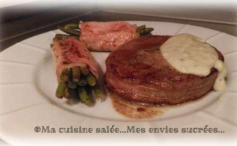 Tournedos et faux filet sauce au bleu d'Auvergne