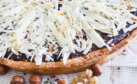 Tarte chocolat caramel et fruits secs