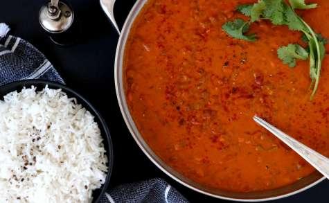 Curry crémeux de lentilles au lait de coco