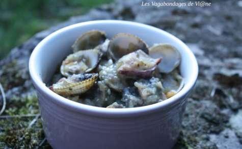 Ragoût de pommes de terre, coques, encornet et lotte