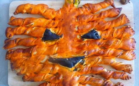 Tarte feuilletée citrouille d'Halloween à la courge butternut