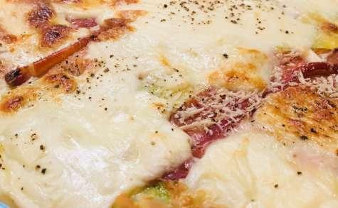 Gratin de ravioles du Dauphiné au Speck et à la mozza