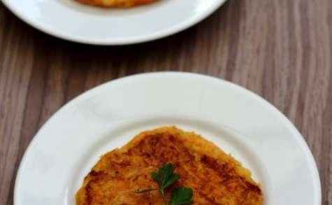 Röstis de pommes de terre et potiron