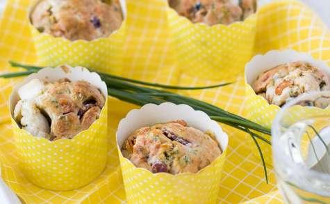 Muffins aux fruits de mer et ciboulette