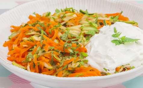 Salade de carottes et de courgettes