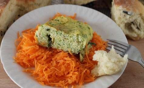 Courgettes râpées en omelette