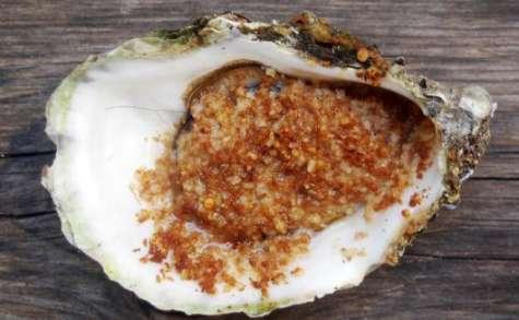 Huîtres gratinées au Farz Gwinizh