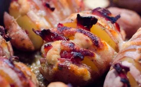 Pommes de terre à la suédoise, à la mozzarella et au jambon fumé