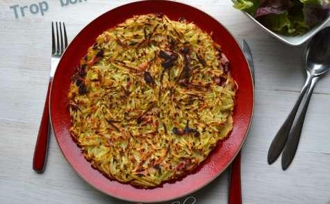 Paillassons de pommes de terre aux lardons et petits oignons