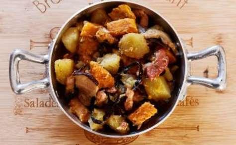 Poêlée de patates douces aux champignons