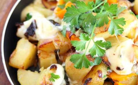 Poêlée de patates au bleu