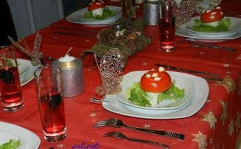Oeufs farcis en forme de champignon