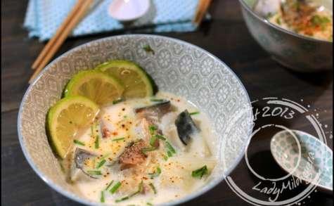Filets de maquereau au bouillon thaï coco-citronnelle