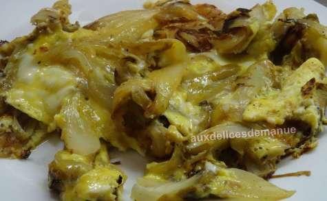 Omelette aux endives