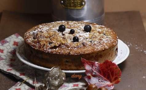 Gâteau aux myrtilles et aux noisettes