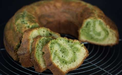 Gâteau de santé façon marbré vanille et pistache