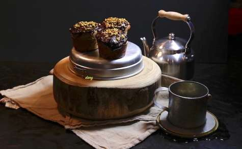 Petits gâteaux à la farine de sarrasin fruits secs et chocolat