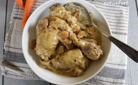 Poulet aux cèpes sauce roquefort