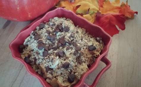 Crumble d'automne aux pépites de chocolat