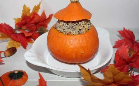 Potimarron farci aux quinoa et céréales du soleil