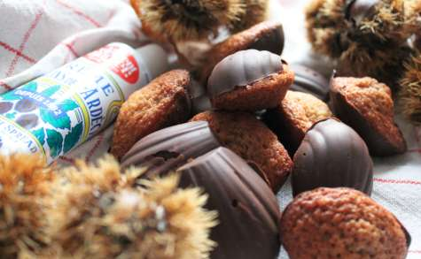 Madeleines chocolat coeur crème de marrons