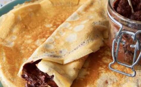 Crêpes à la farine de châtaigne, pâte à tartiner maison