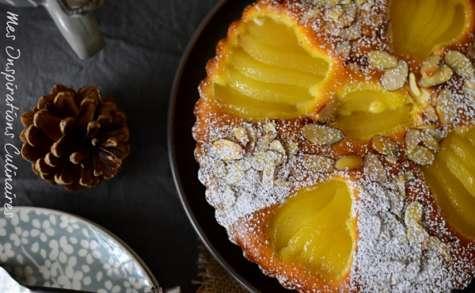 Gâteau moelleux aux poires et aux pépites de chocolat
