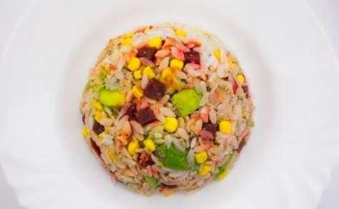 Salade de riz à l'avocat