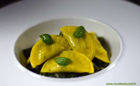 Ravioles ou raviolis épinards ricotta