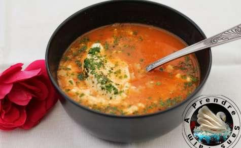 Soupe de tomates aux pâtes