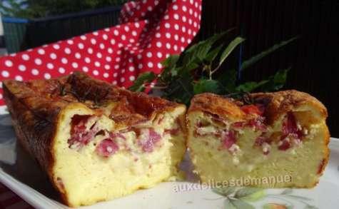 Flan à la tome fraîche de l'Aubrac et pancetta