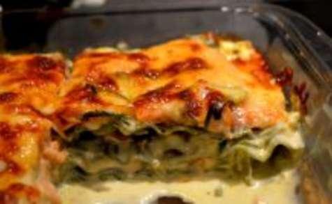 Lasagne epinards au saumon à la crème