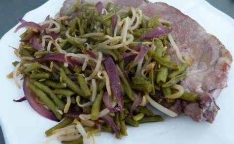 Cabillaud épicé aux légumes asiatiques