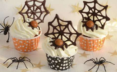 Cupcakes potiron pécan aux épices pour Halloween