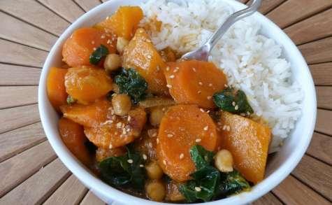 Curry de légumes d'automne au lait de coco
