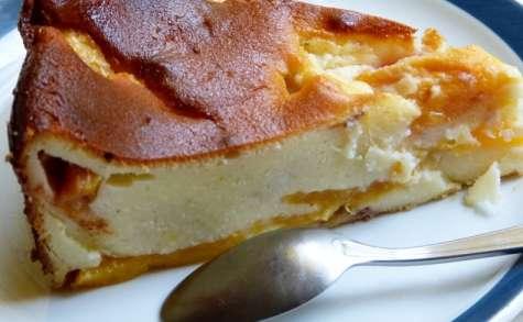 Gâteau moelleux aux pêches fromage blanc et Limoncello