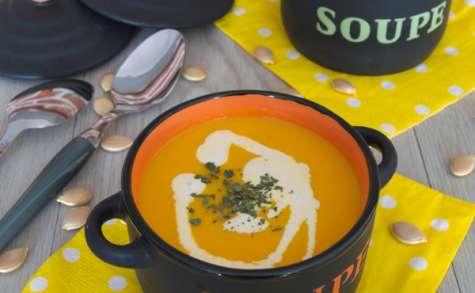 La soupe de potiron à la citronnelle