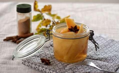 Coings au sirop de badiane et cannelle