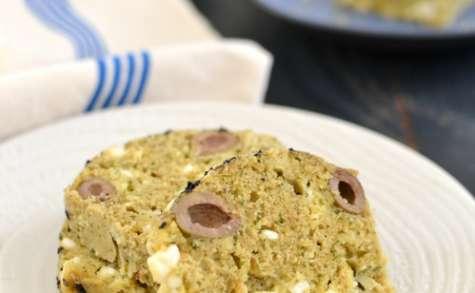 Cake aux olives vertes et fêta