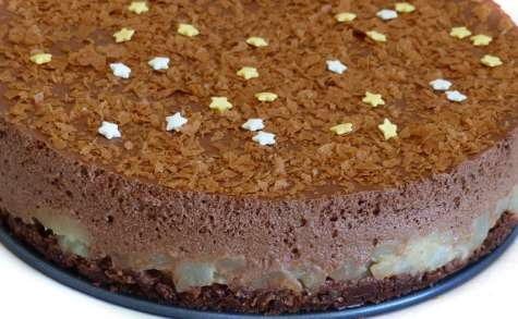 Gâteau crousti-fondant poire chocolat