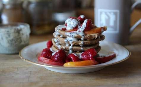 Pancakes sauce pavot-amandes