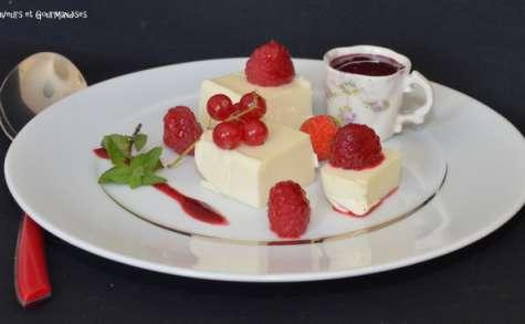 Entremet carré frais à la vanille et à la framboise