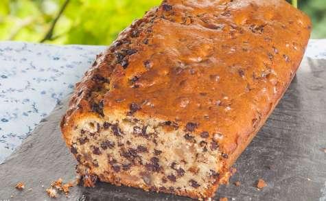 Gâteau du matin aux pépites de chocolat et aux éclats de marrons glacés