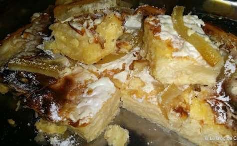 Gâteau au fromage et citron confit