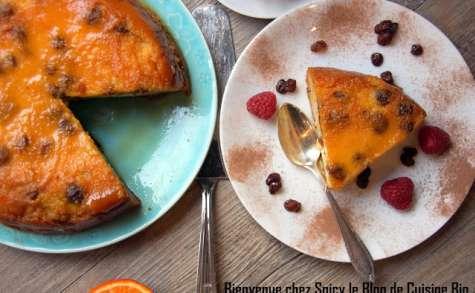 Gâteau de semoule régressif au caramel rhum raisin