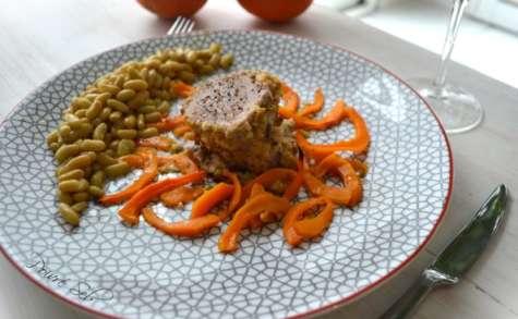Filet mignon en croûte de pistaches et ses potimarrons