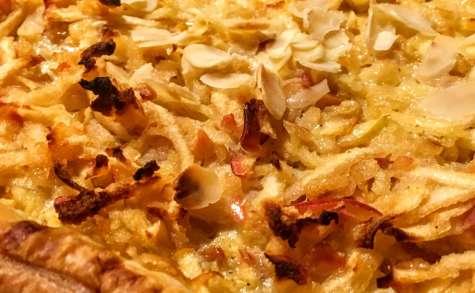 Une tarte aux pommes râpées à l'alascienne